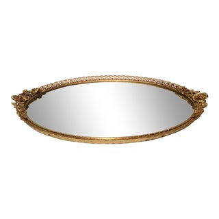 1960s Hollywood Regency Goldtone Dresser Mirror For Sale