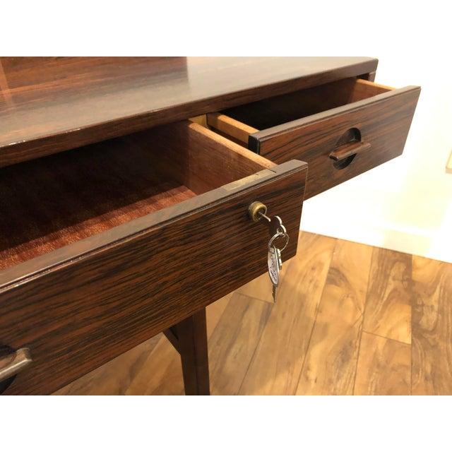 Peter Lovig Nielsen Flip Top Rosewood Desk For Sale In Seattle - Image 6 of 13