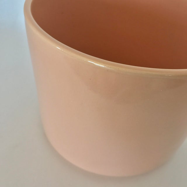 Gainey Mid Century Modern Pink Tabletop Planter - Image 6 of 9