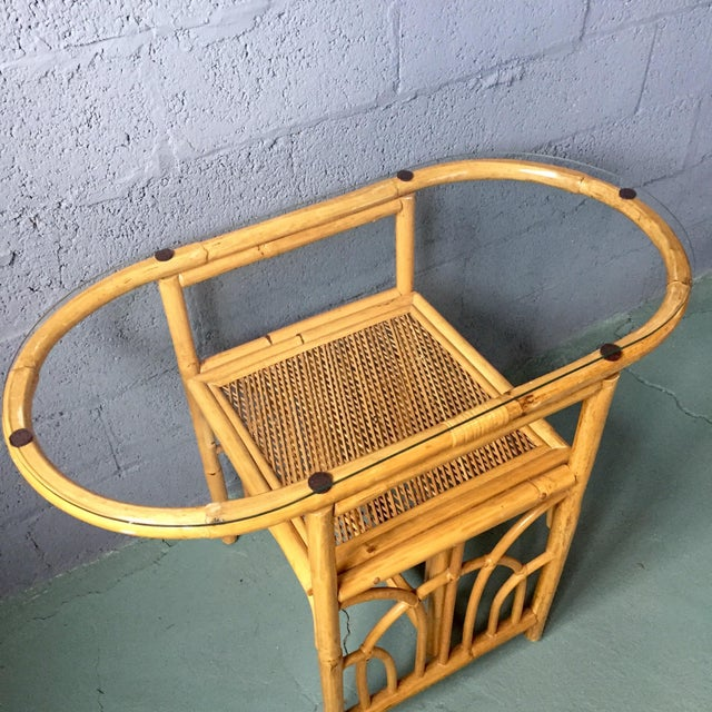 Vintage 1980s Bamboo Dining Set For Sale - Image 5 of 11