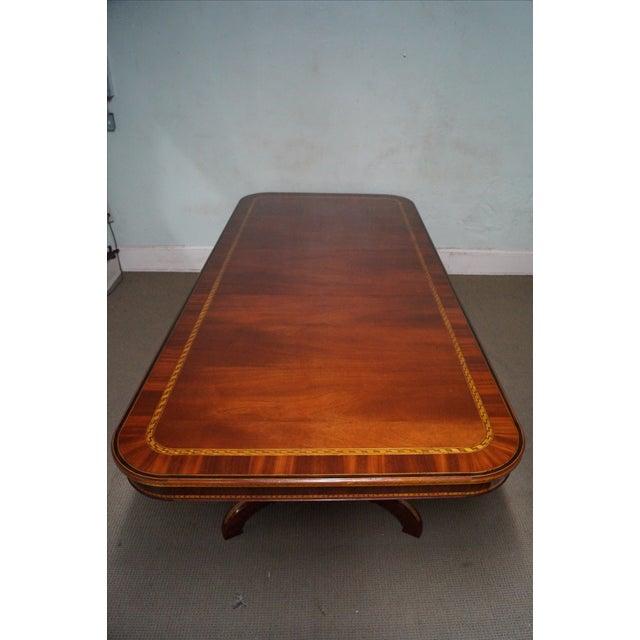 Alfonso Marina Hand Crafted Mahogany Inlaid Table - Image 2 of 10