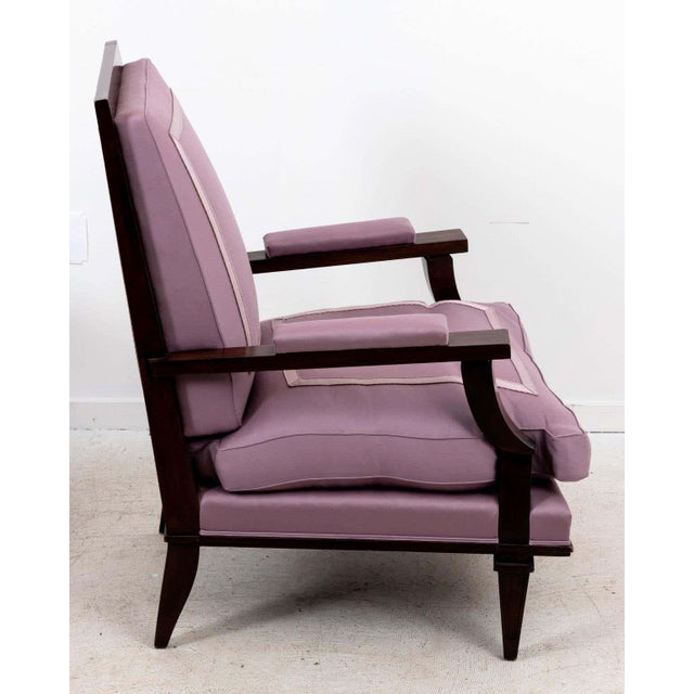 1940s Vintage Jules Leleu Attributed Armchairs - a Pair For Sale - Image 4 of 11