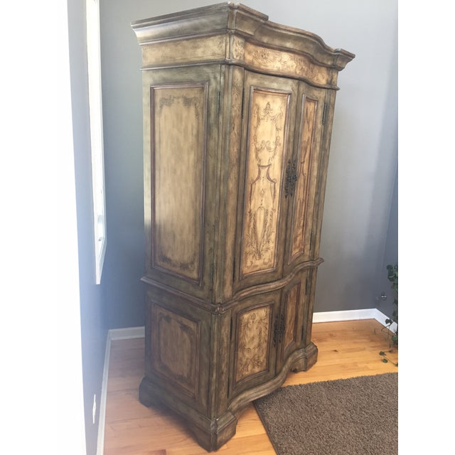 Hooker Furniture Hand Painted Armoire | Chairish