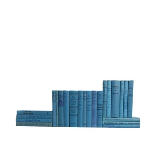 Midcentury Sky Blue : Set of Twenty Three Decorative Books