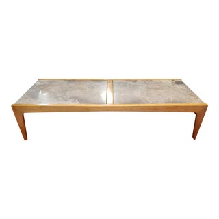 Drexel Profile Mid-Century Modern Marble Top Coffee Table For Sale