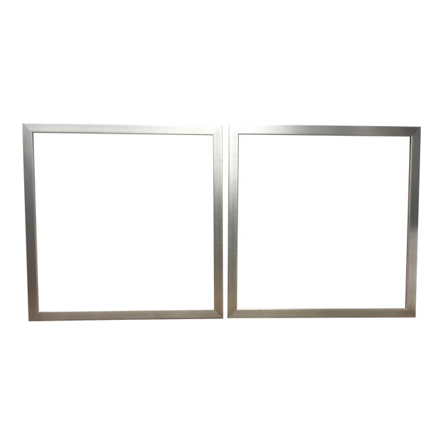 Large Square Roma Moulding Frames - A Pair - Image 1 of 11