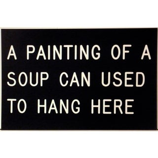 """A Painting of a Soupcan Used to Hang Here"" Print by William Anastasi For Sale"