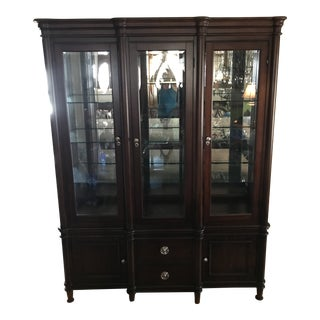 Transitional Shermag China Cabinet For Sale