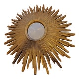 Image of 1950s Mid-Century Sunburst Mirror For Sale