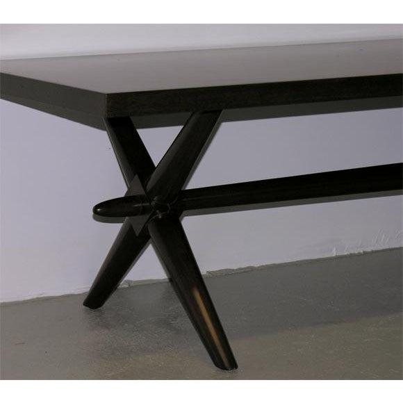 Widdicomb T.H. Robsjohn-Gibbings for Widdicomb Trestle Base Cocktail Table For Sale - Image 4 of 6
