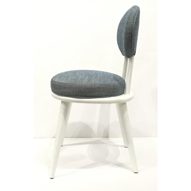 Drexel Heritage Drexel Heritage Blue-Gray Dwelling Dining Chairs Set of Six For Sale - Image 4 of 7