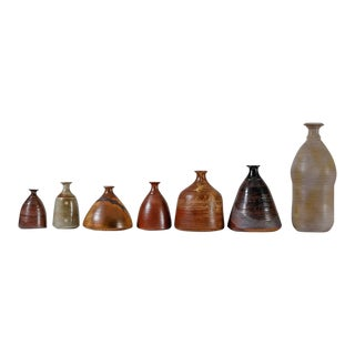 Franco Agnese Collection of Seven Ceramic Vases, France, 1960s For Sale