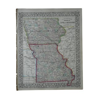 Antique Map of Iowa & Missouri For Sale