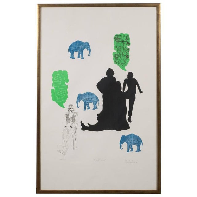 """""""The Dream"""" Lithograph Printed in Colors, Depicting Jungle Scenes, 1968 For Sale - Image 11 of 11"""