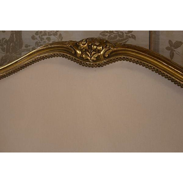 Gorgeous 19th Century French Louis XV Canape with carved glided Frame. Featuring beautifully carved floral accents, scroll...