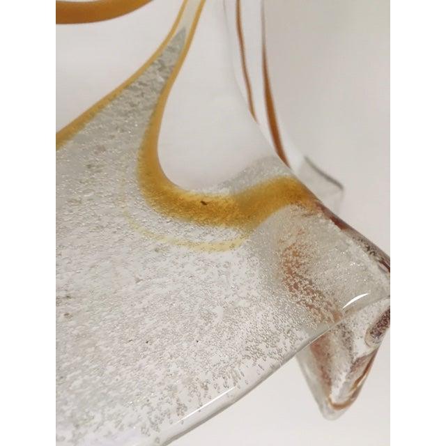 Mid-Century Modern Handkerchief Style Murano Single Pendant Light by Fazzoletto For Sale - Image 3 of 12
