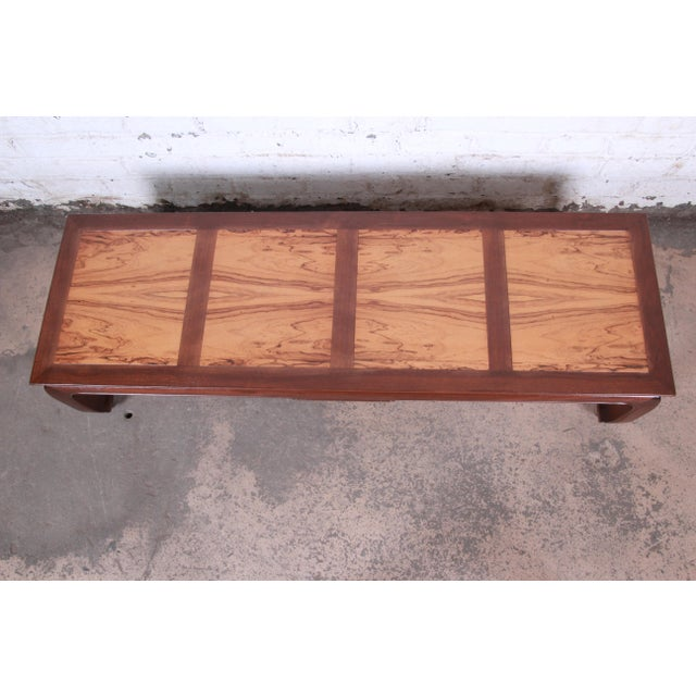 1960s Michael Taylor for Baker Chinoiserie Rosewood and Walnut Coffee Table, Newly Restored For Sale - Image 5 of 12