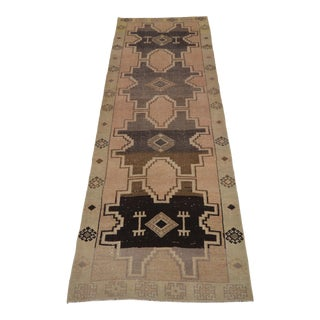 "1950's Vintage Turkish Hand-Knotted Runner-'7"" X 11'8"" For Sale"