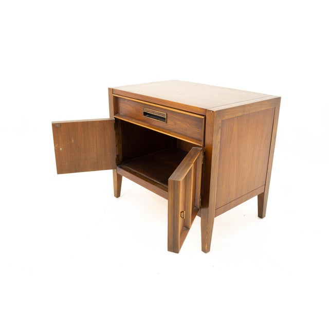 Drexel Mid Century Walnut Nightstand For Sale In Chicago - Image 6 of 13