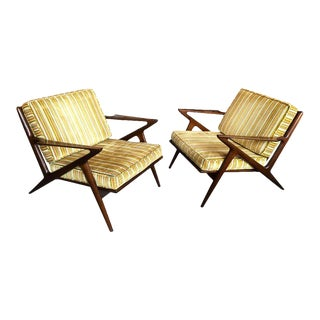 Poul Jensen for Selig Danish Modern Z Chairs - a Pair For Sale