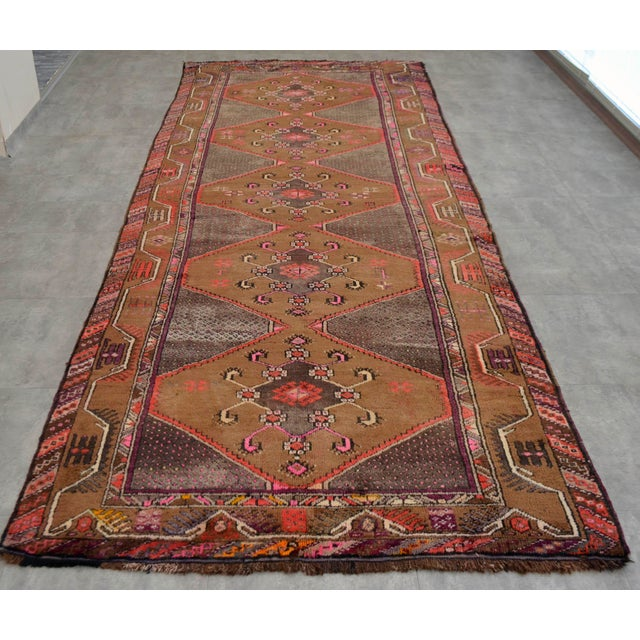 Hand Knotted Natural Colors Tribal Rug - 5′3 ″ x 13′1″ - Image 4 of 10