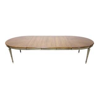 Widdicomb Louis XVI Oval Dining Table in Walnut For Sale