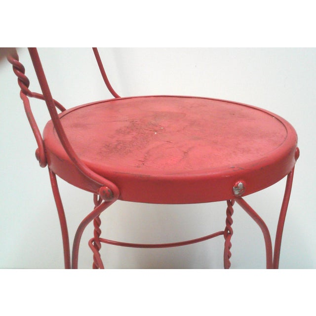Red Iron Ice Cream Cafe Chair - Image 7 of 10