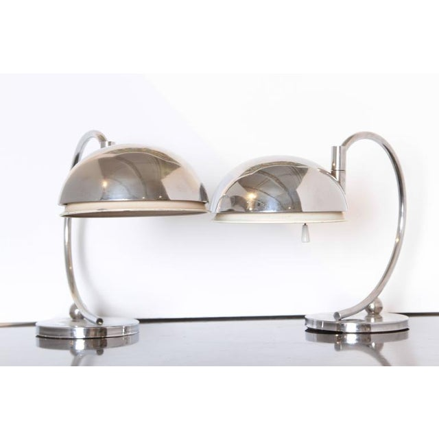 Art Deco Pair of Machine Age Art Deco Articulating Table Lamps For Sale - Image 3 of 11