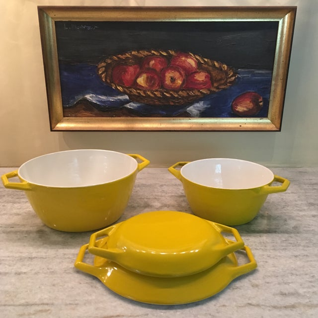 Yellow Danish Copco Enamelware by Michael Lax - A Pair For Sale - Image 11 of 12