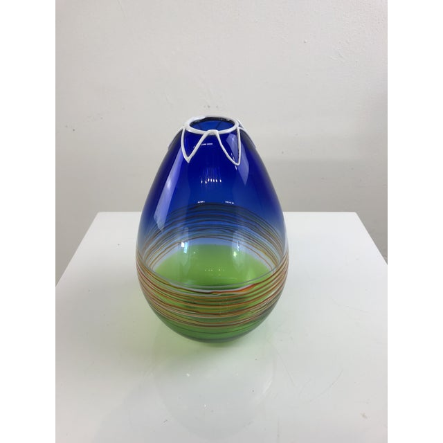 1960s Vintage Gino Cenedese Murano Vase For Sale - Image 13 of 13