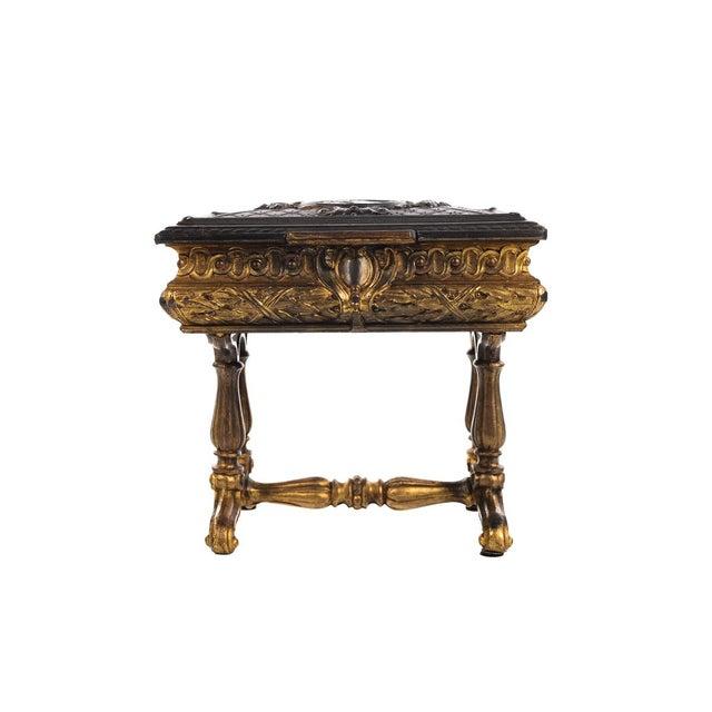 19th century Antique Gilt Bronze Jewelry Box- Miniature Sawing Box - Image 5 of 9