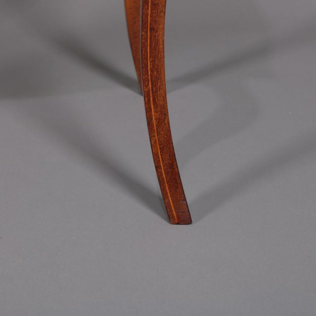 French 1900s French Marquetry, Mahogany With Satinwood Inlay For Sale - Image 3 of 13
