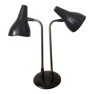 Mid 20th Century Gerald Thurston 1950's Lightolier Dual Head Desk Lamp For Sale