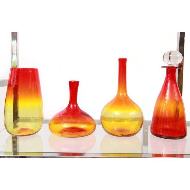 Blenko Remarkable Blenko Glass Ensemble For Sale - Image 4 of 7