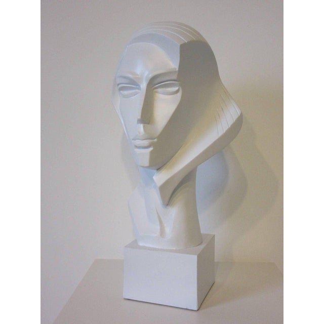 1980s Large Female Head Sculpture by Austin For Sale - Image 9 of 9