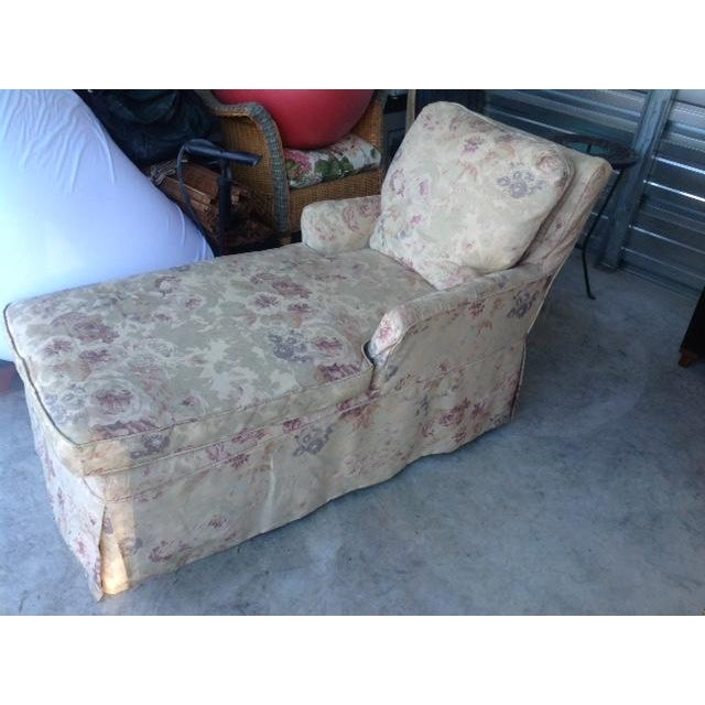 Vintage 1930s Floral Chaise - Image 3 of 7