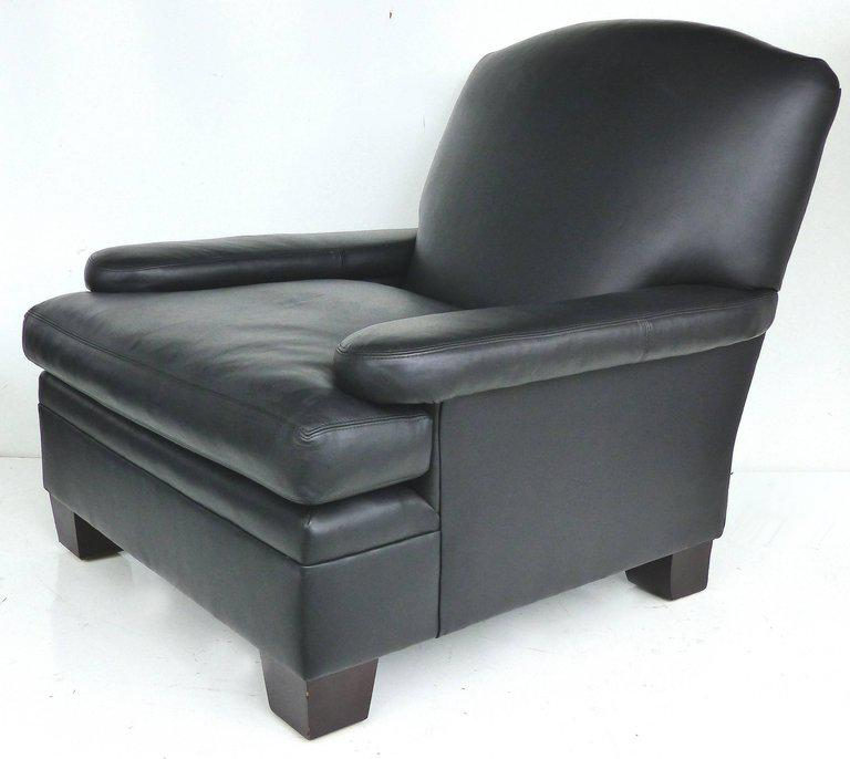 Ralph Lauren London Leather Club Chair With Matching Ottoman, Pair  Available   Image 4 Of