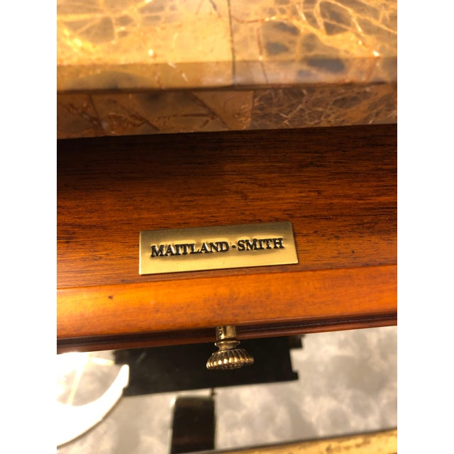 A gorgeous jewelry box or container for treasures in the shape of an antique mini credenza having a mix of burled walnut...