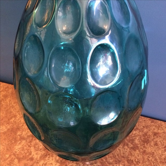 Large Turquoise Glass Vessel - Image 4 of 6