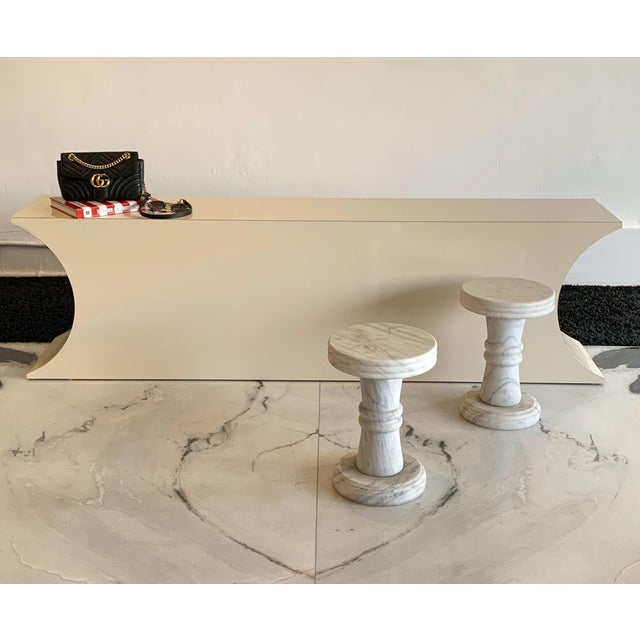 Karl Springer Postmodern Geometric Laminate Console Table For Sale - Image 4 of 6