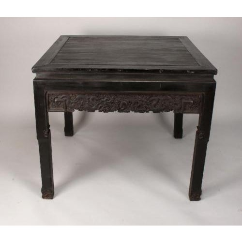 Antique Chinese Handmade Zitan Dragon Table For Sale - Image 5 of 11