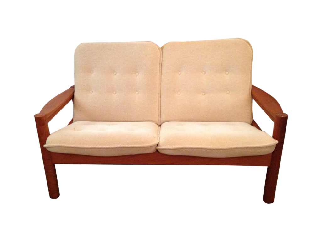 Domino Mobler Vintage Danish Modern Teak Loveseat Chairish
