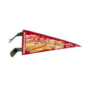 Vintage Magnetic Hill, NB Felt Flag For Sale
