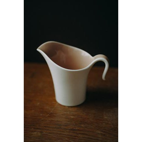 Mid-Century Modern Minimal Ceramic Cream and Sugar Set For Sale - Image 3 of 8