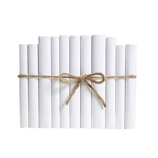 Modern Wrapped Snowfall Colorpak : Decorative Books Wrapped in White Parchment