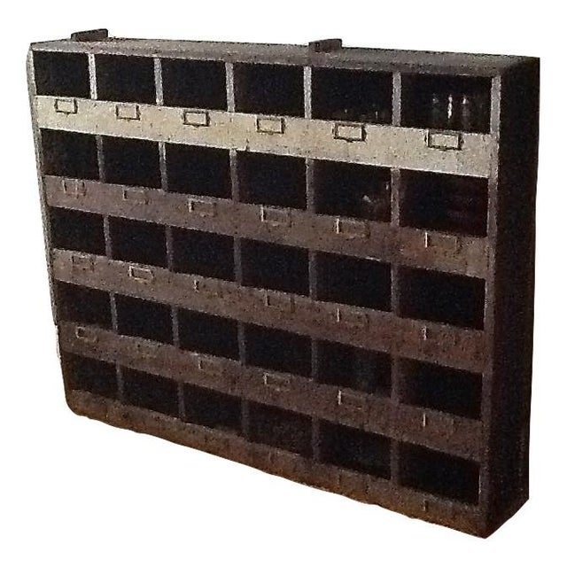 Vintage Industrial Wood Pigeon Hole Storage Shelves - Image 3 of 10
