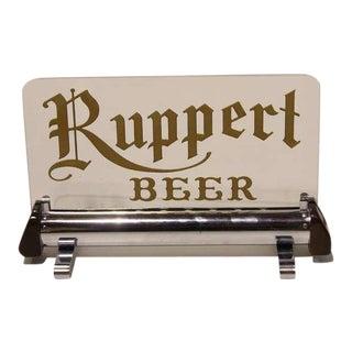 """1930's Original Light Up """"Ruppert Beer"""" Sign For Sale"""