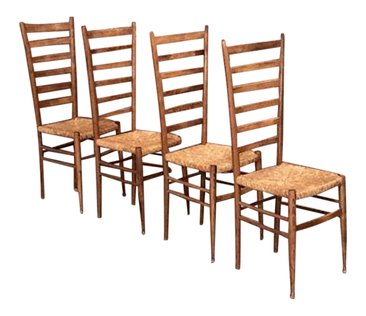 Italian Ladder Back Chairs Style Of Gio Ponti   Set Of 4