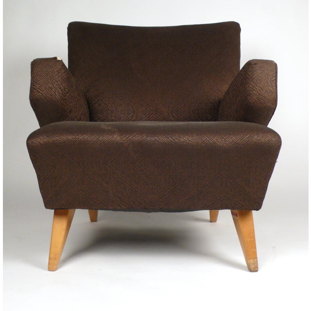 Danish Modern Early Lounge Chair by Jens Risom For Sale - Image 3 of 6