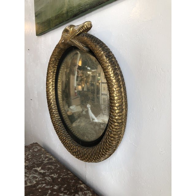 Irish Gilt Ouroboros Serpent Form Mirror With Original Plate Circa 1805 For Sale In Atlanta - Image 6 of 13
